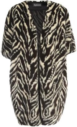 Gianluca Capannolo Judy Faux Fur Coat Down Sleeves W/stripes
