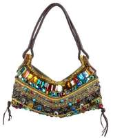 Antik Batik Embellished Woven Shoulder Bag