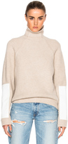Victoria Beckham Lambswool Military Patch Sleeve Jumper