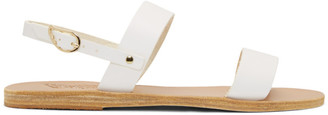 Ancient Greek Sandals White Clio Sandals