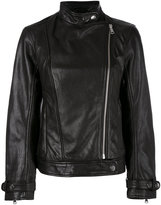 Dondup oversized leather jacket - women - Lamb Skin/Polyester - 42