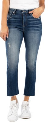 KUT from the Kloth Kelsey Raw Hem Ankle Flare Jeans