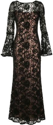 Tadashi Shoji Layered Sequin Gown