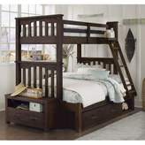 Hillsdale Kids and Teen Highlands Harper Bunk Twin/Full Bed with Storage in Espresso