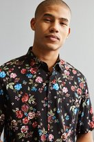 Urban Outfitters Rose Vineyard Rayon Short Sleeve Button-Down Shirt