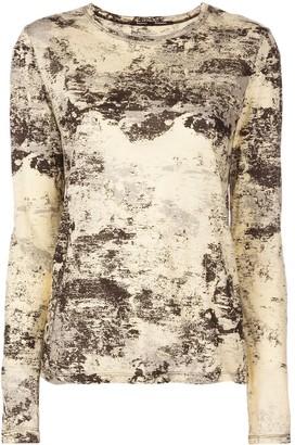 Proenza Schouler Foil Printed Long Sleeve T-Shirt