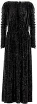 Saint Laurent Sequined jersey midi dress