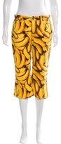 Dolce & Gabbana Banana Print Cropped Pants