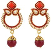 Rajwada-Arts Rajwada Arts Women's Brass Enamel And Stones Dangle Earrings