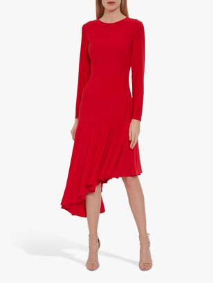 Gina Bacconi Kayra Concertina Hem Midi Dress