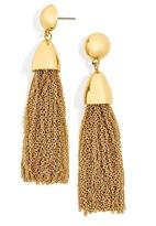 BaubleBar Chain-Link Tassel Drop Earrings