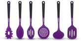 Art & Cook Purple Silicone Utensil 6-Piece Set
