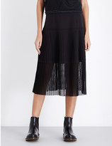 Izzue Flared pleated midi skirt