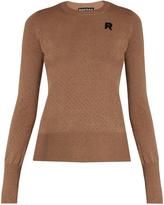Rochas Eyelet-knit wool sweater