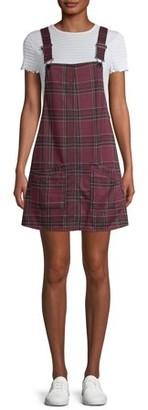 No Boundaries Juniors' Double Knit Pinafore Dress
