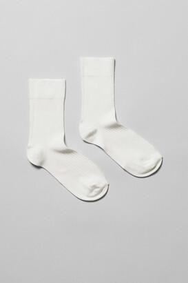 Weekday Lo Socks - White