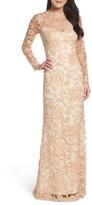 Tadashi Shoji Women's Embroidered Lace Gown