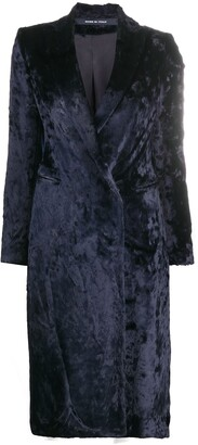 Tagliatore Velvet Double-Breasted Coat