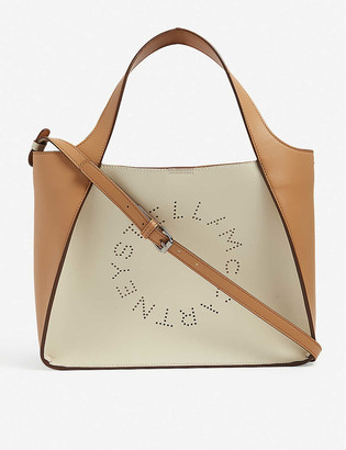 Stella McCartney Stella Logo vegan-leather tote bag