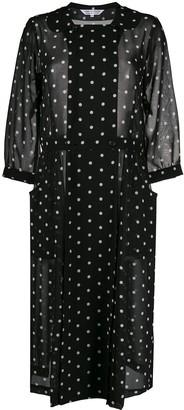Comme des Garçons Comme des Garçons Peter-pan collar polka-dot print midi dress