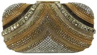 Sondra Roberts Crystal Chain Clutch