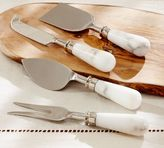 Pottery Barn Marble Cheese Knives, Set of 4