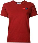 Comme des Garcons double heart T-shirt - women - Cotton - S
