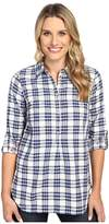 Hatley Bonded Plaid Pop Over Shirt