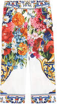Dolce & Gabbana Mini Me flower-printed silk pyjama pants Caltagirone