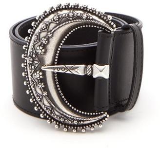 Etro Western-buckle Leather Belt - Womens - Black