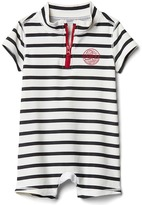 Gap Stripe zip henley rashguard one-piece