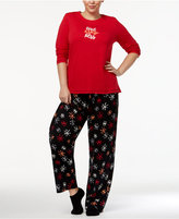 Hue Plus Size Sequins Pajama Set