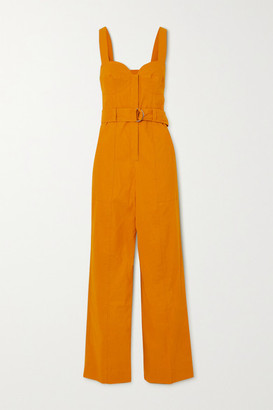 A.L.C. X Petra Flannery Cyprus Belted Linen-blend Jumpsuit - Marigold