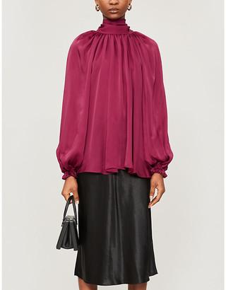 Zimmermann Gathered silk top