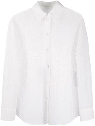 Jil Sander Crochet-Lace Point-Collar Shirt