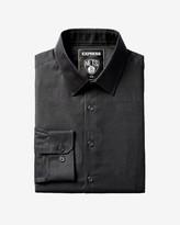 Express Slim Brooklyn Nets Nba Jacquard Logo Dress Shirt