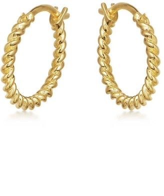 Missoma Gold Mini Helical Hoops