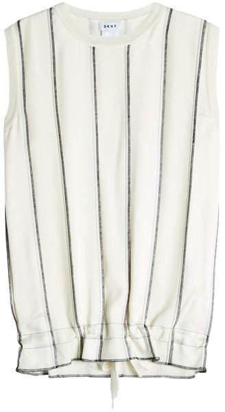 DKNY Sleeveless Top with Drawstring Hem