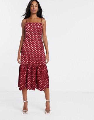 Talulah Lady of Luxury crochet midi dress