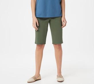 Martha Stewart Petite Stretch Twill Bermuda Shorts