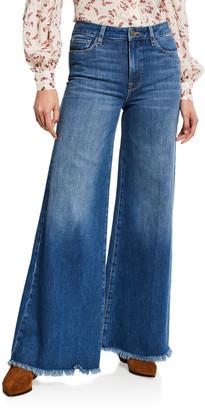 Frame Le Palazzo Raw-Edge Flare Jeans