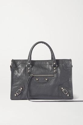 Balenciaga Classic City Small Textured-leather Tote - Gray