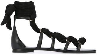 Stella Luna Ankle Tie Sandals