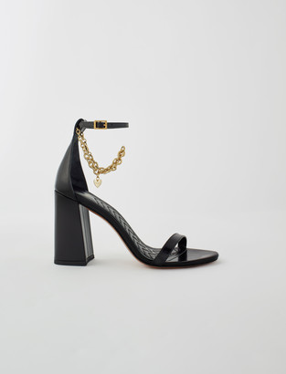 Maje High heel sandals with gold-tone chain