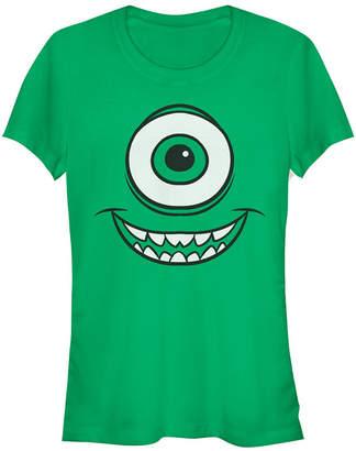 Fifth Sun Disney Pixar Women Monsters Inc. Mike Wazowski Eye Short Sleeve Tee Shirt