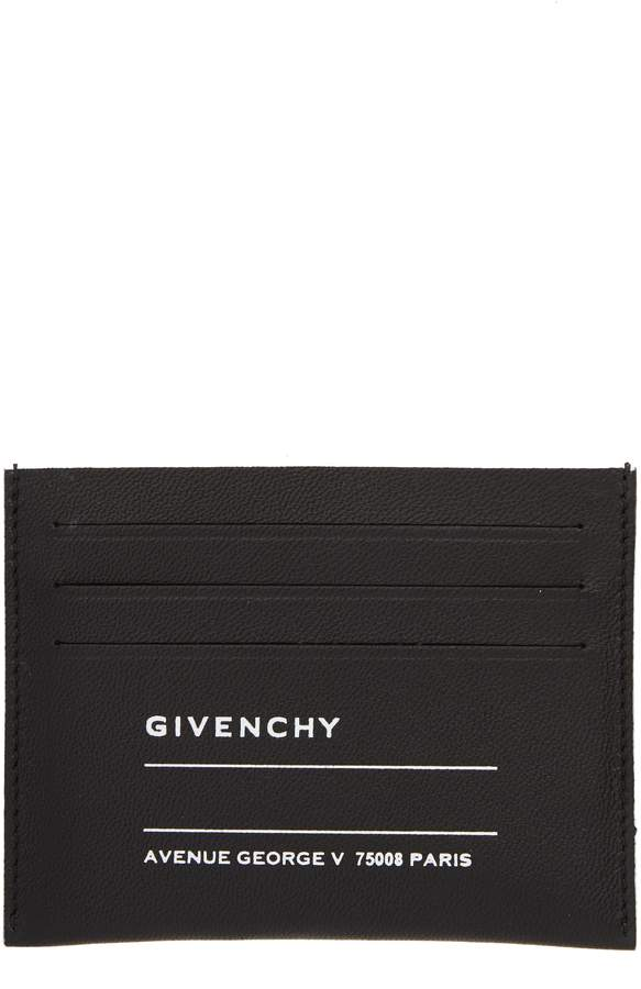 Givenchy Iconic Address Print Lambskin Card Holder
