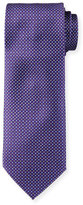 Brioni Neat Floral & Box-Print Silk Tie, Purple/Blue