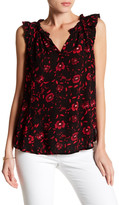 Velvet by Graham & Spencer Debralee Floral Ruffle Blouse