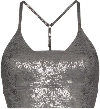 Sweaty Betty Chaturanga foil yoga sports bra