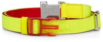 Christian Louboutin Loubiclic Neon Nylon Jacquard Belt